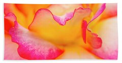 Rose Petal Curves Beach Towel by Teri Virbickis