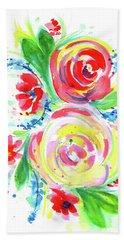 Rose Red Rose Yellow  Beach Sheet