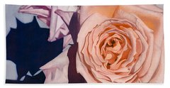 Beach Sheet featuring the painting Rose Splendour by Kerryn Madsen-Pietsch