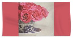 Beach Towel featuring the photograph Rose Tea by Lyn Randle