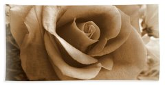 Rose Vignette Beach Towel