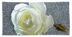 Rose With Some Sparkle Beach Sheet by Terence Davis
