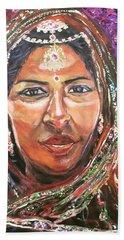 Beach Towel featuring the painting Roseanne Kala - True Colors by Belinda Low
