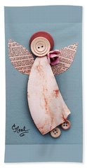 Rosebud Angel Beach Towel