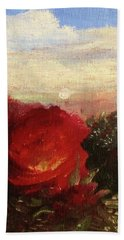 Beach Sheet featuring the painting Rosebush by Mary Ellen Frazee