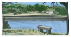 Rosemary Lake Beach Towel by Jean Pacheco Ravinski