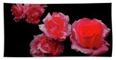 Roses And Rain Beach Sheet