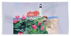 Roses At Portland Headlight Beach Towel