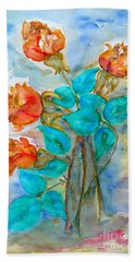 Roses Buds Beach Towel