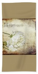 Beach Towel featuring the photograph Roses by Carolyn Marshall