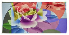 Beach Towel featuring the digital art Roses For Her by Eleni Mac Synodinos