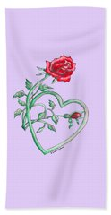 Roses Hearts Lace Flowers Transparency       Beach Towel