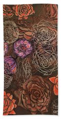 Roses In Time Beach Towel