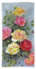 Roses Beach Towel by Katia Aho