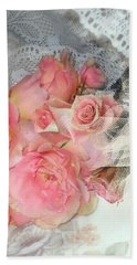 Roses On My Pillow Beach Towel