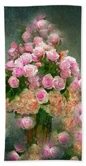 Roses Pink And Shabby Chic Beach Towel