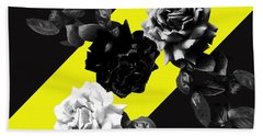 Roses Versus Yellow Beach Towel