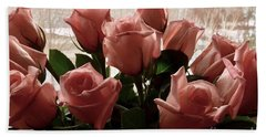Roses With Love Beach Sheet