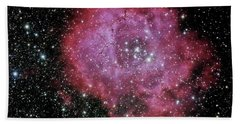 Rosette Nebula In The Constellation Monoceros Beach Sheet by Alan Vance Ley
