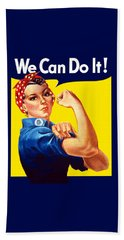 Rosie The Rivetor Beach Towel by War Is Hell Store