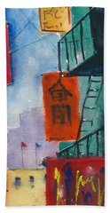 Ross Alley, Chinatown Beach Towel by Tom Simmons