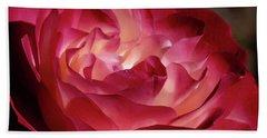 Rosy Closeup Beach Sheet