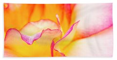 Rosy Curves Beach Towel by Teri Virbickis