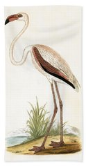 Rosy Flamingo Beach Towel