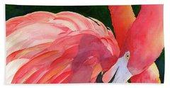 Rosy Outlook Beach Towel by Judy Mercer