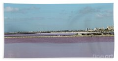 Rosy Red Salt Lakes Beach Towel