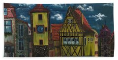 Beach Sheet featuring the painting Rothenburg Ob Der Tauber by The GYPSY And DEBBIE