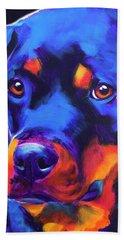 Rottweiler - Dexter Serious Beach Towel