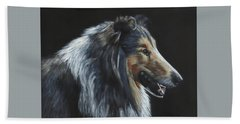 Rough Collie Beach Towel