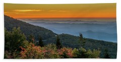 Rough Morning - Blue Ridge Parkway Sunrise Beach Towel