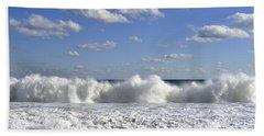 Rough Surf Jersey Shore  Beach Sheet