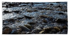 Beach Towel featuring the photograph Rough Waters by Helga Novelli