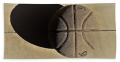 Round Ball And Shadow Beach Towel