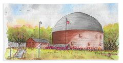 Round Barn In Route 66, Arcadia, Oklahoma Beach Towel