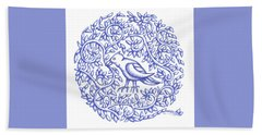 Beach Sheet featuring the drawing Round Bird January 17 by Donna Huntriss