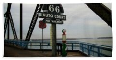 Route 66 Auto Court Beach Towel