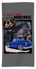 Route 66 Chevy Beach Towel