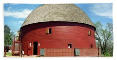 Route 66 - Round Barn Beach Sheet by Frank Romeo