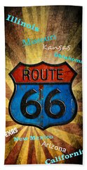Route 66 Beach Towel