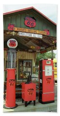 Route 66 - Shea's Gas Station Beach Towel