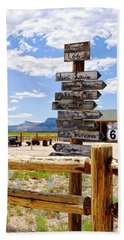 Route 66 Sign Post Beach Sheet