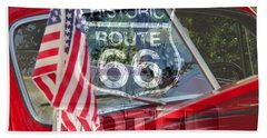 Beach Towel featuring the photograph Route 66 The American Highway by David Lee Thompson