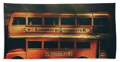 Routemaster Bus Station Beach Towel