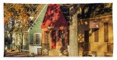 Row Houses Duke Of Gloucester Colonial Williamsburg Beach Sheet