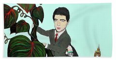 Rowan Atkinson Mr Beanstalk Beach Towel