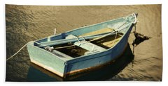Rowboat At Twilight Beach Towel